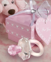 Choice Crystal Pink Pacifier Favours